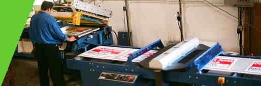 Screen printing press and UV dryer