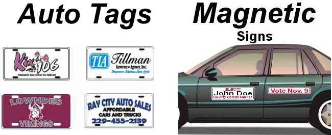 Printed auto tags and license plates