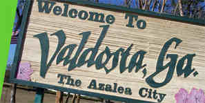 Welcome to Valdosta sign
